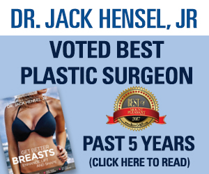 Dr Jack Hensel - voted Best Plastic Surgeon in Mount Pleasant 5 years running!